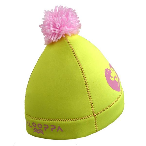 alooppa neoprene hat yellow color with heart application