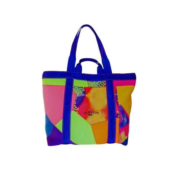 Alooppa large beach bag from neoprene pieces