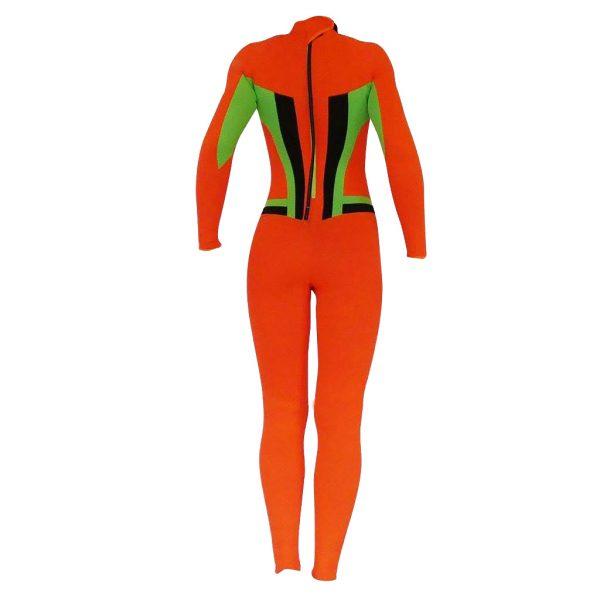 Alooppa 2mm full size orange coloured wetsuit product photo