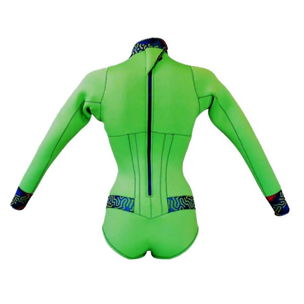 Alooppa 2mm neoprene Green Springsuit