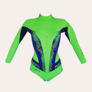 Alooppa electro green wetsuit