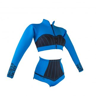 Alooppa two piece wetsuit, blue color